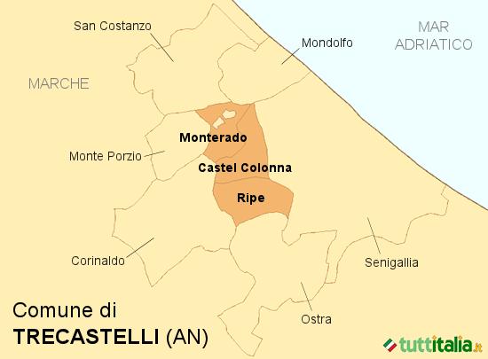 Cartina Trecastelli