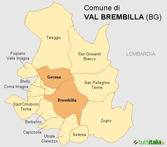 Cartina Val Brembilla