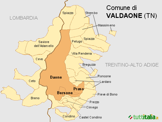 Cartina Valdaone