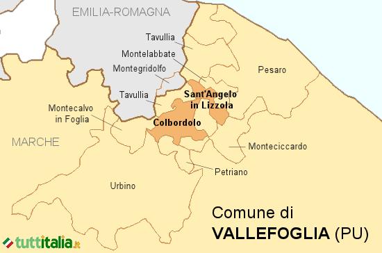 Cartina Vallefoglia