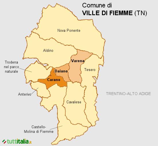 Cartina Ville di Fiemme
