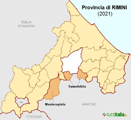 Nuovi comuni in Provincia di Rimini