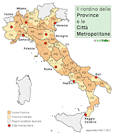 Cartina Italia Regioni E Province.Mappa Nuove Province E Citta Metropolitane