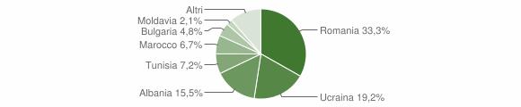 Grafico cittadinanza stranieri - Melfi 2009