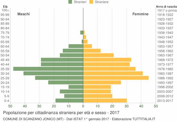 Grafico cittadini stranieri - Scanzano Jonico 2017