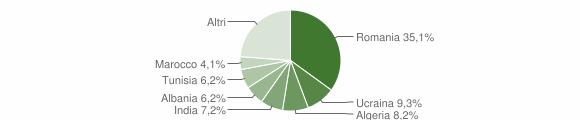 Grafico cittadinanza stranieri - Stigliano 2011