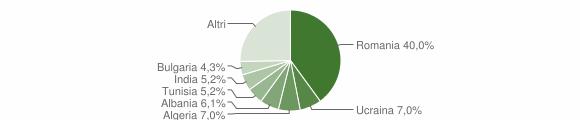 Grafico cittadinanza stranieri - Stigliano 2014