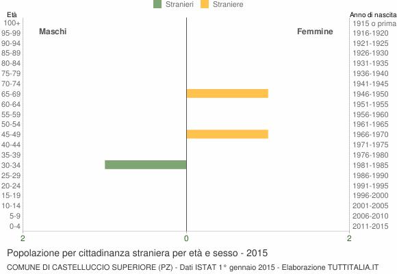 Grafico cittadini stranieri - Castelluccio Superiore 2015