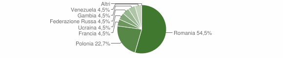 Grafico cittadinanza stranieri - San Chirico Raparo 2013