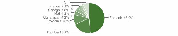 Grafico cittadinanza stranieri - San Chirico Raparo 2016