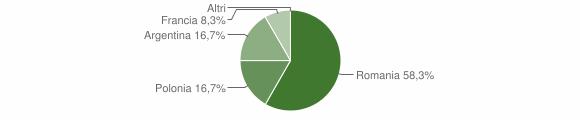Grafico cittadinanza stranieri - Gallicchio 2010