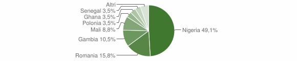 Grafico cittadinanza stranieri - Gallicchio 2018