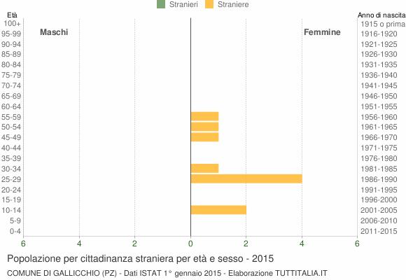 Grafico cittadini stranieri - Gallicchio 2015