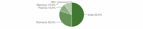 Grafico cittadinanza stranieri - Albano di Lucania 2010