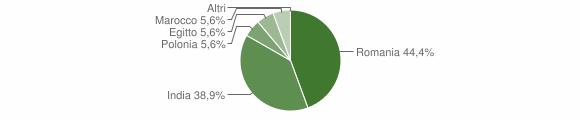 Grafico cittadinanza stranieri - Albano di Lucania 2014