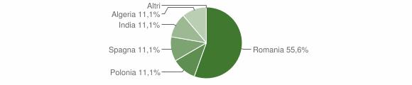 Grafico cittadinanza stranieri - Calciano 2010
