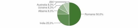 Grafico cittadinanza stranieri - Calciano 2019
