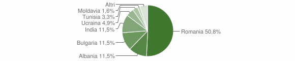 Grafico cittadinanza stranieri - Tolve 2018