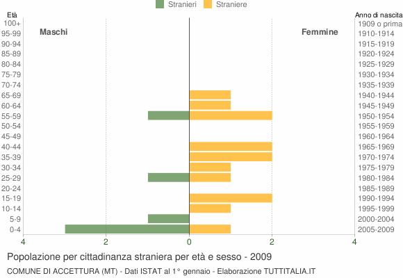 Grafico cittadini stranieri - Accettura 2009