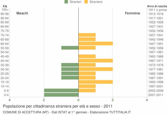 Grafico cittadini stranieri - Accettura 2011