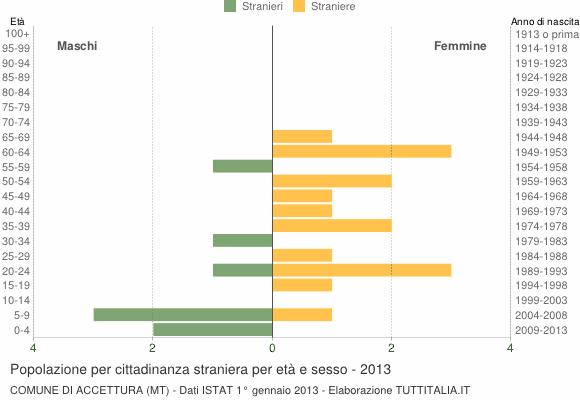 Grafico cittadini stranieri - Accettura 2013