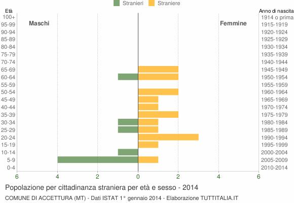 Grafico cittadini stranieri - Accettura 2014