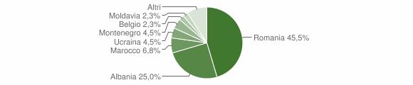 Grafico cittadinanza stranieri - Salandra 2013