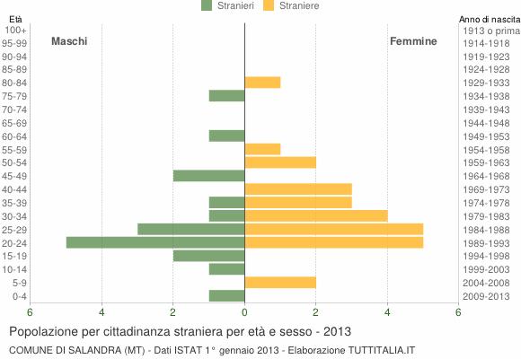 Grafico cittadini stranieri - Salandra 2013