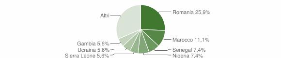 Grafico cittadinanza stranieri - Viggianello 2017