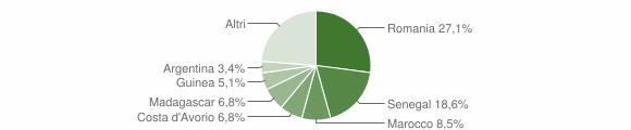 Grafico cittadinanza stranieri - Viggianello 2018