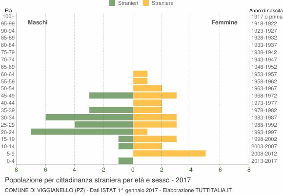 Grafico cittadini stranieri - Viggianello 2017