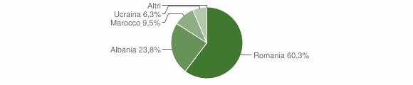 Grafico cittadinanza stranieri - Gorgoglione 2009