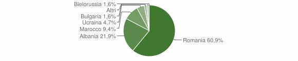 Grafico cittadinanza stranieri - Gorgoglione 2010