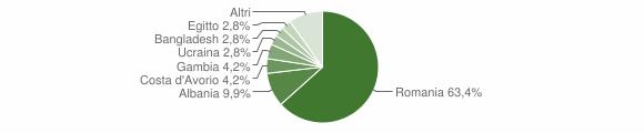 Grafico cittadinanza stranieri - Gorgoglione 2018