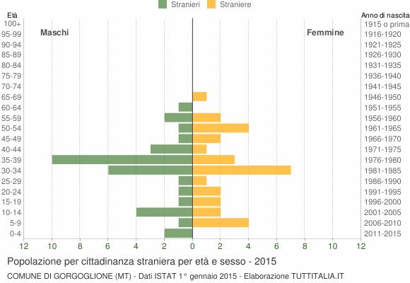 Grafico cittadini stranieri - Gorgoglione 2015