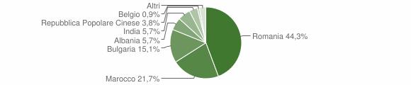 Grafico cittadinanza stranieri - Grassano 2010