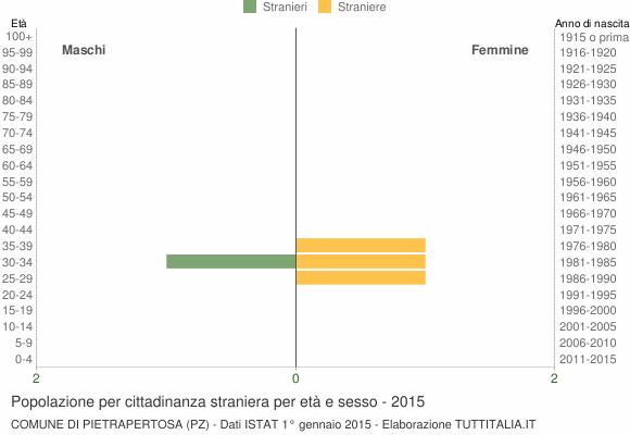 Grafico cittadini stranieri - Pietrapertosa 2015
