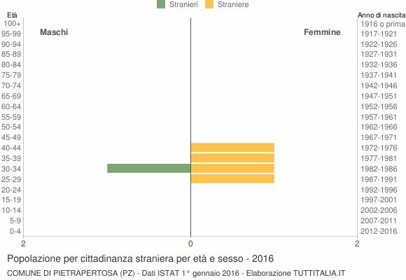 Grafico cittadini stranieri - Pietrapertosa 2016