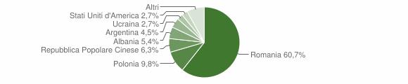 Grafico cittadinanza stranieri - Senise 2009