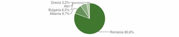 Grafico cittadinanza stranieri - Castronuovo di Sant'Andrea 2018