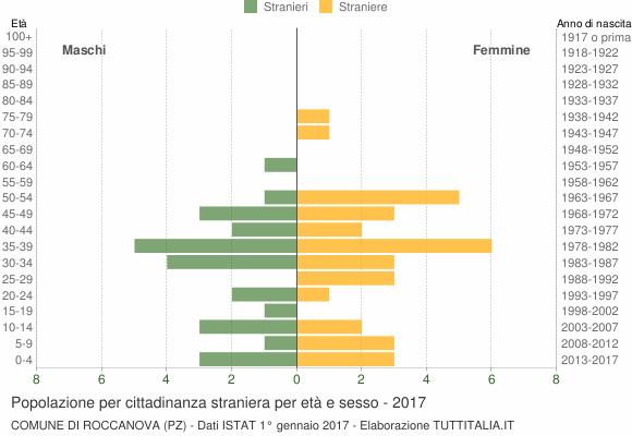 Grafico cittadini stranieri - Roccanova 2017