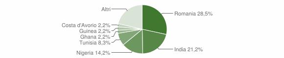 Grafico cittadinanza stranieri - Irsina 2017