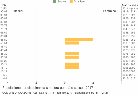 Grafico cittadini stranieri - Carbone 2017