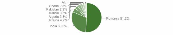 Grafico cittadinanza stranieri - Grumento Nova 2019