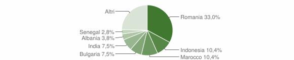 Grafico cittadinanza stranieri - Tricarico 2018
