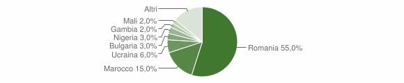 Grafico cittadinanza stranieri - Latronico 2018