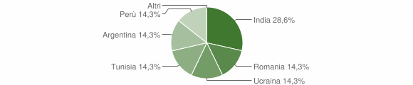 Grafico cittadinanza stranieri - Garaguso 2006