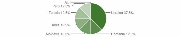 Grafico cittadinanza stranieri - Garaguso 2007