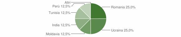 Grafico cittadinanza stranieri - Garaguso 2009