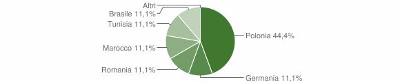 Grafico cittadinanza stranieri - Cirigliano 2009